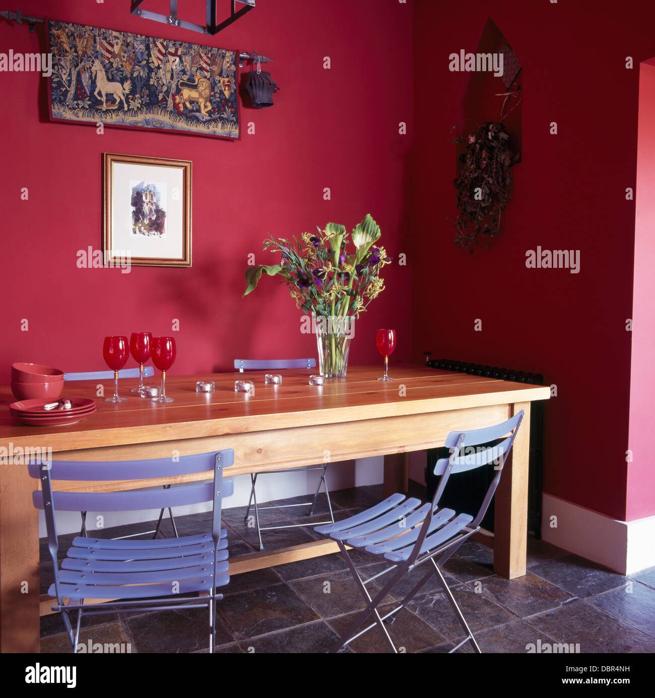 Strange Ikea Blue Folding Plastic Chairs At Simple Wooden Table In Squirreltailoven Fun Painted Chair Ideas Images Squirreltailovenorg
