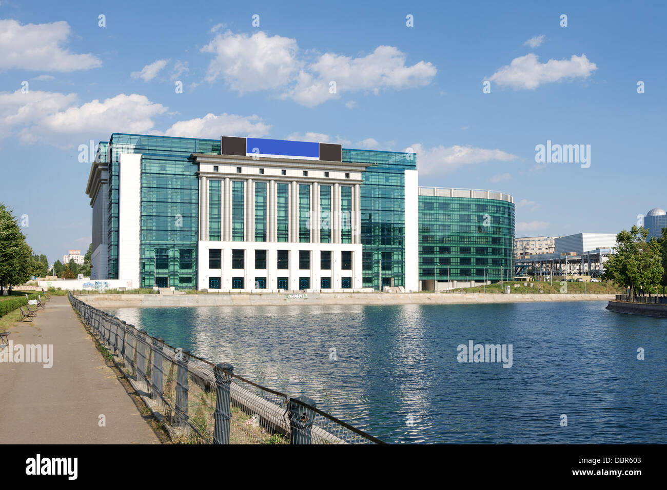National Library of Romania in Bucharest - Stock Image