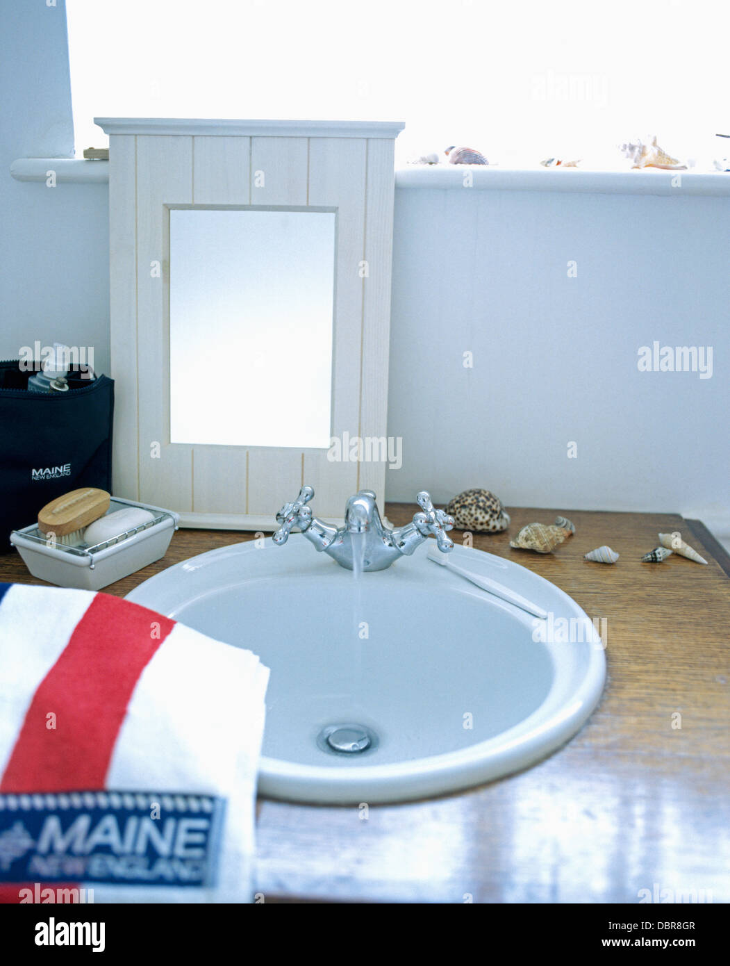 Bathroom Basin Mirror Monochromatic Stock Photos & Bathroom Basin ...