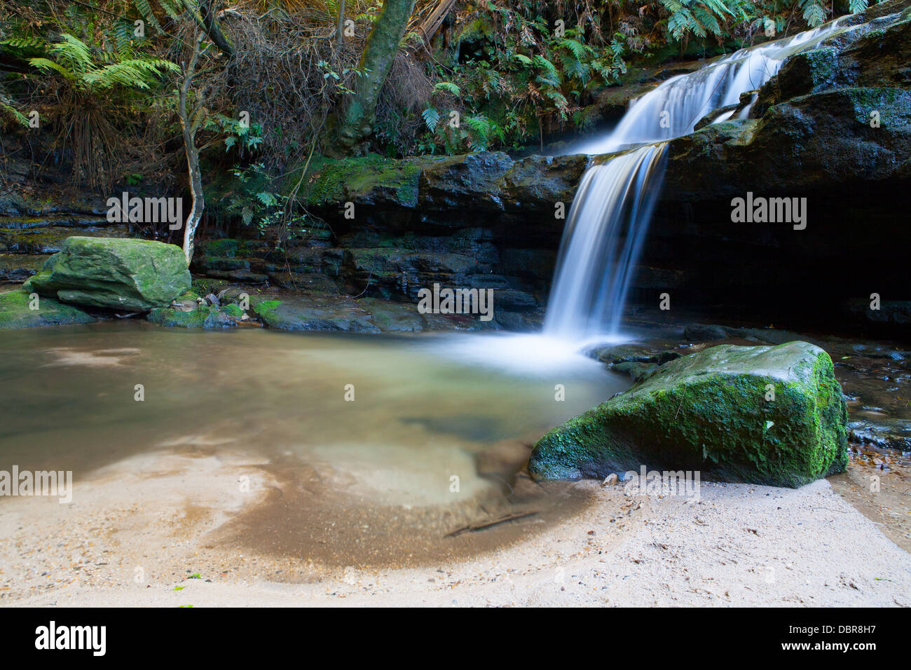 Leura cascades in the Blue Mountains, New South Wales, Australia - Stock Image