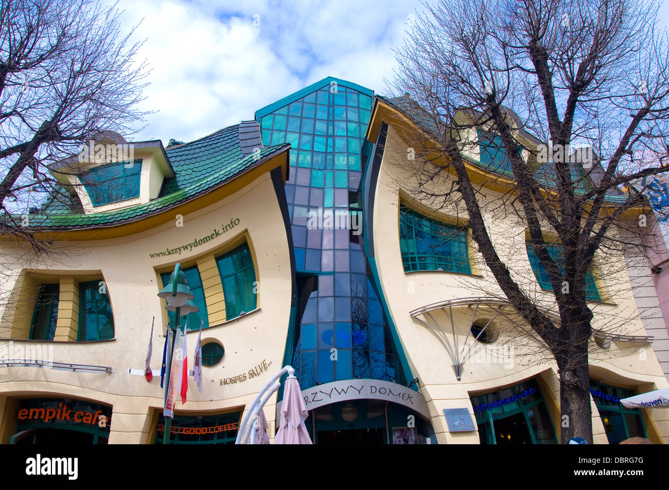The Crooked House, Sopot, Poland - Stock Image