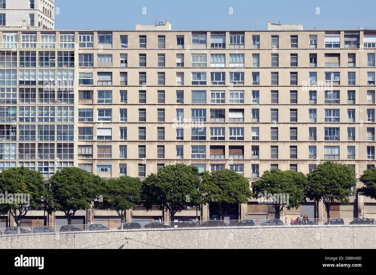 La Tourette Public Sector or Council Housing Estate on the Waterfront Marseille France - Stock Image