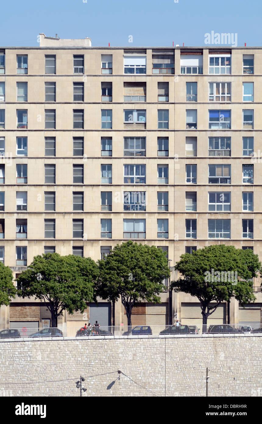 La Tourette Modern Public Housing Estate Marseille France - Stock Image