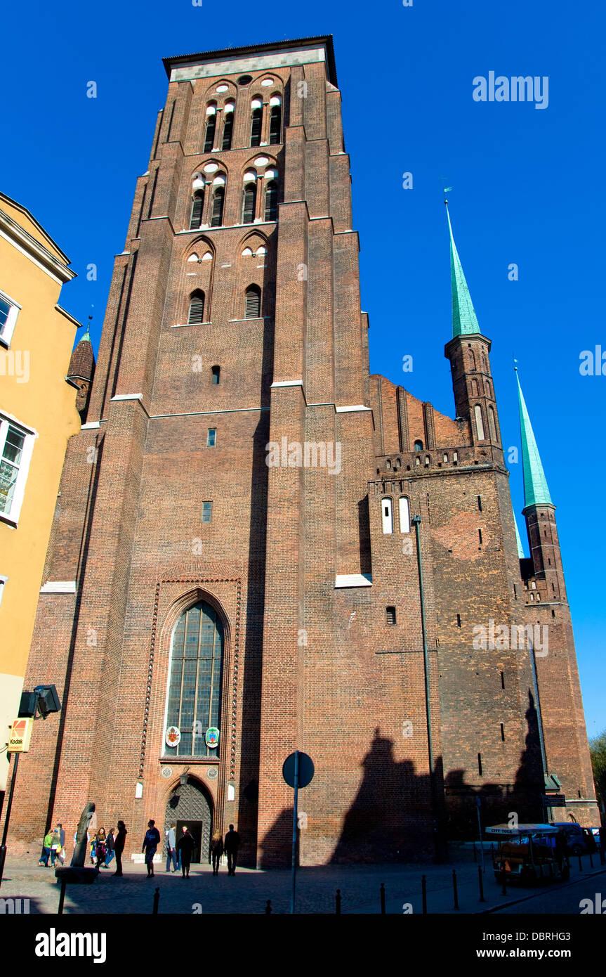 St Mary's Church, Gdansk, Poland - Stock Image