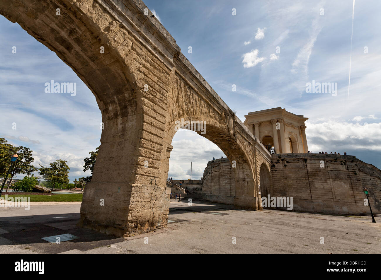 Aqueduct in Montpellier, France Stock Photo