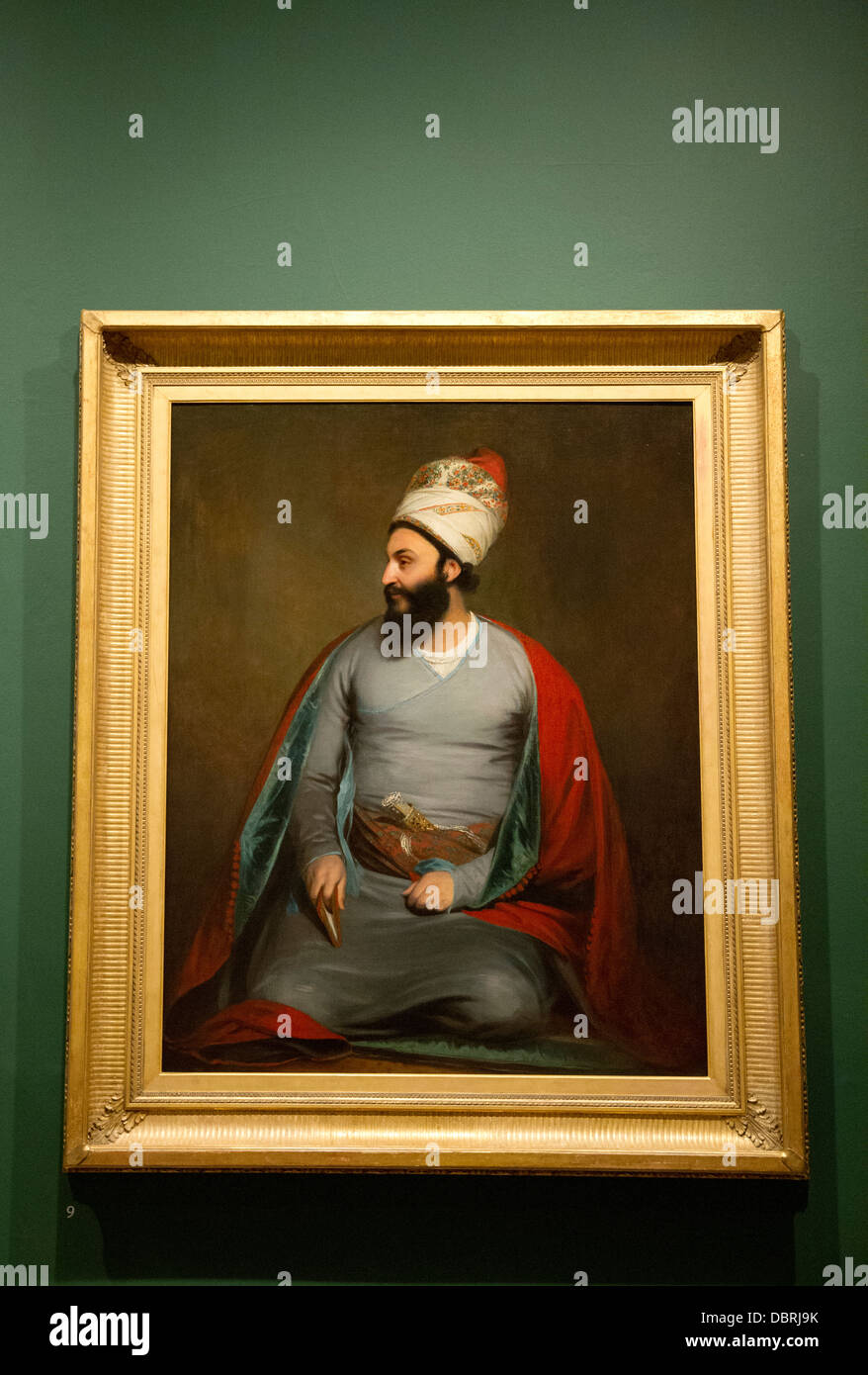 A painting by Sir William Beechey of Mirza Abu'l Hassan Khan Persian Ambassador to Britain - Stock Image