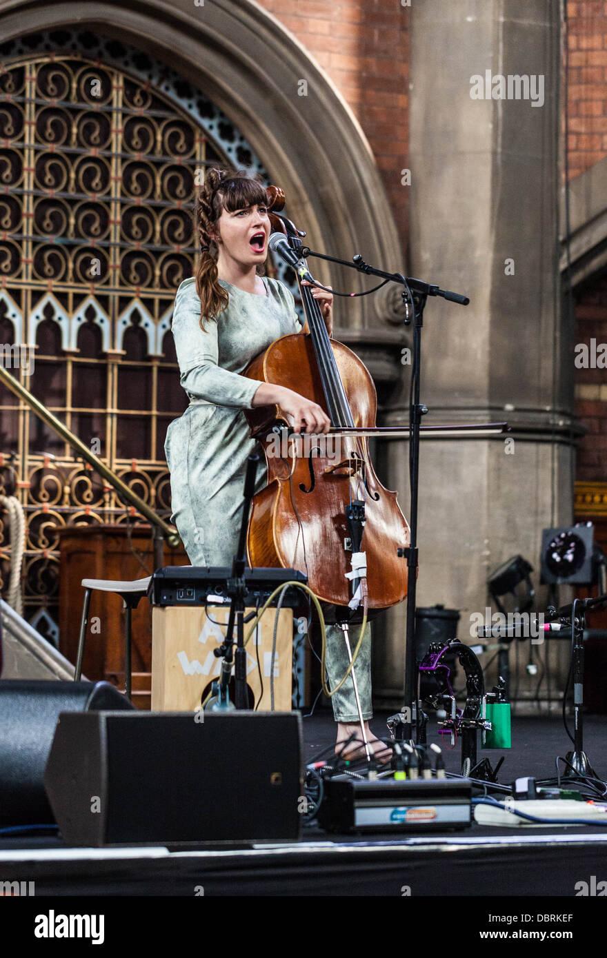 Abi Wade performing at the Daylight Music, Union Chapel, London, England, UK - Stock Image