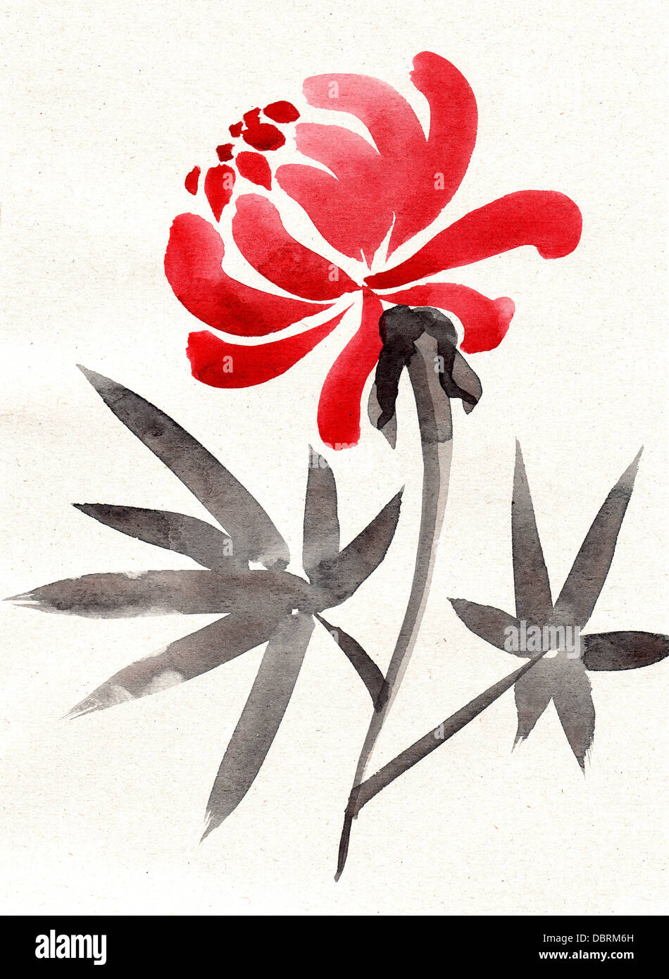 Chinese painting-flower version - Stock Image