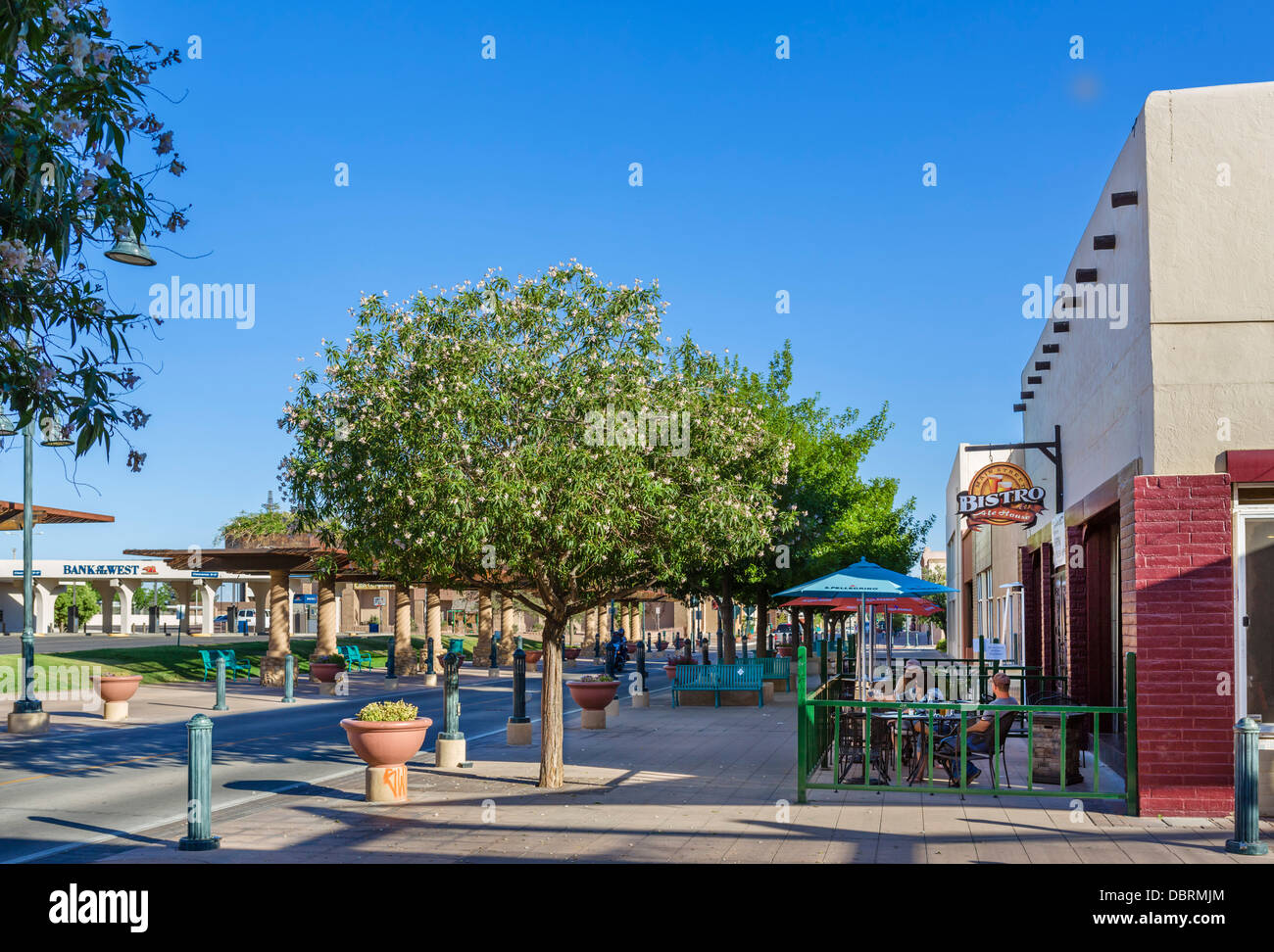 bar on main street in downtown las cruces new mexico usa stock