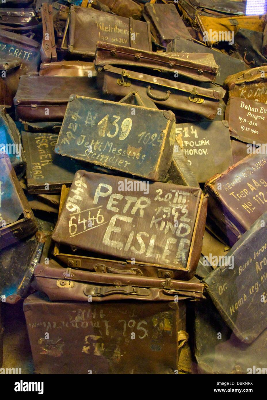 Luggage, Auschwitz Birkenau Memorial, Oswiecim, Poland - Stock Image