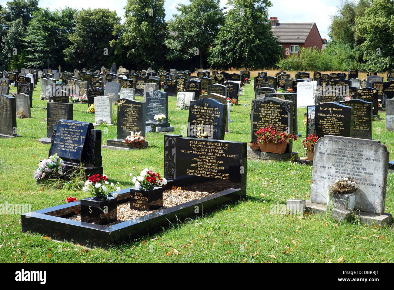 A traditional english cemetery - Stock Image