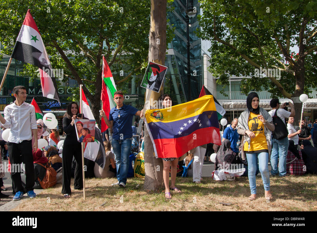 Al-Quds Day 2013 in Berlin. - Stock Image