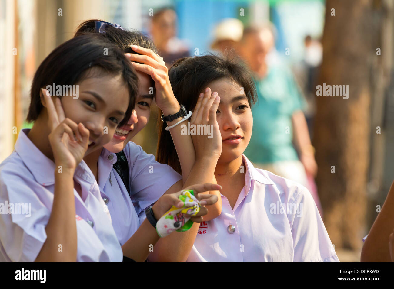 Pity, that Thailand school girls crossed legs