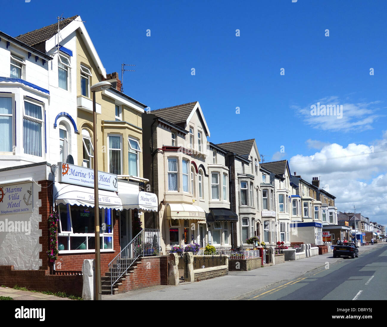 Traditional Bed and Breakfast establishments in Blackpool, England, UK - Stock Image