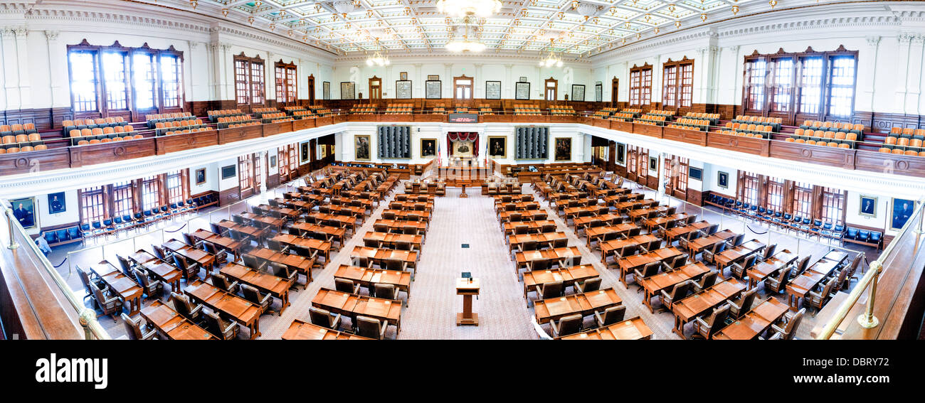 The House Of Representatives Chamber Of The Texas  State Capitol In DBRY72
