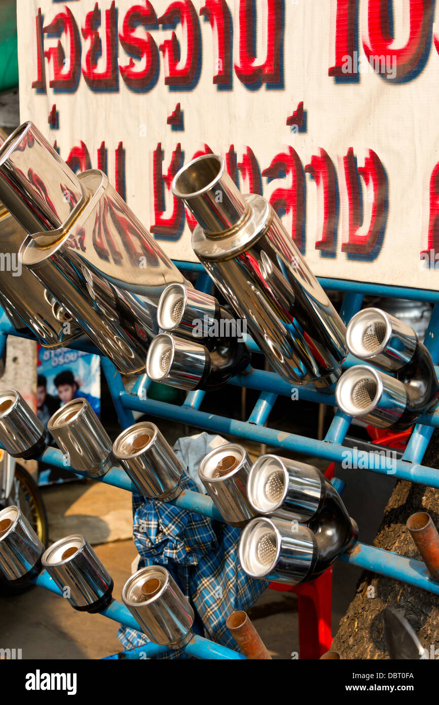 Sale of Spare Exhaust Pipes in Bangkok, Thailand Stock Photo