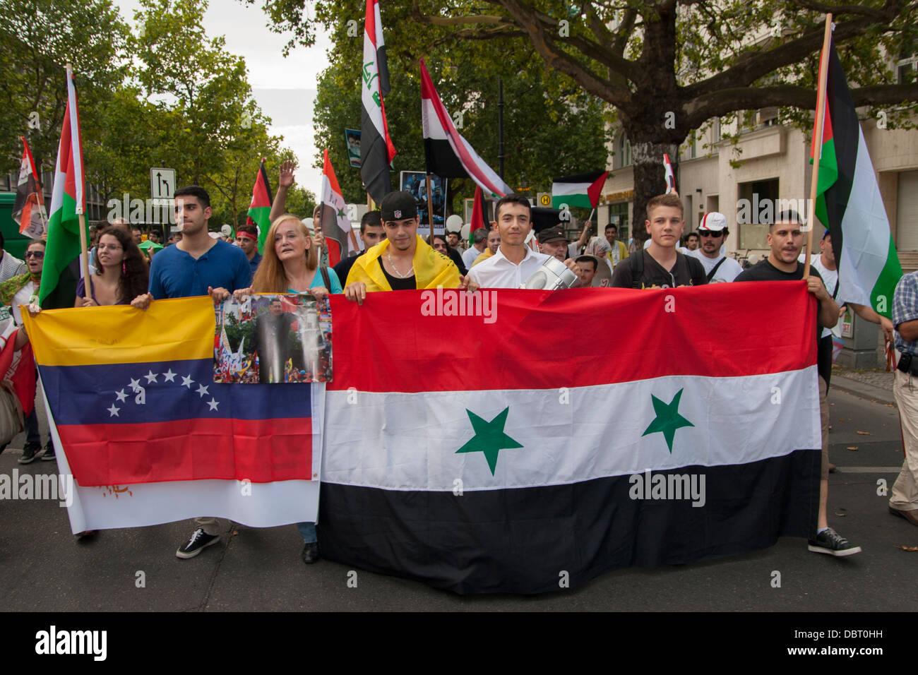 Al-Quds Day 2013 in Berlin. - Stock Image