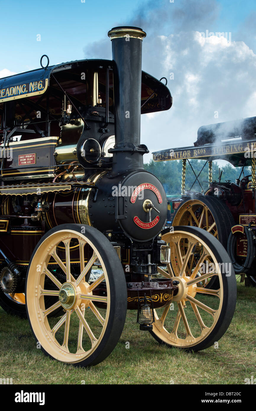 Showmans Traction Engine 'Foremost' at an English steam fair. UK - Stock Image