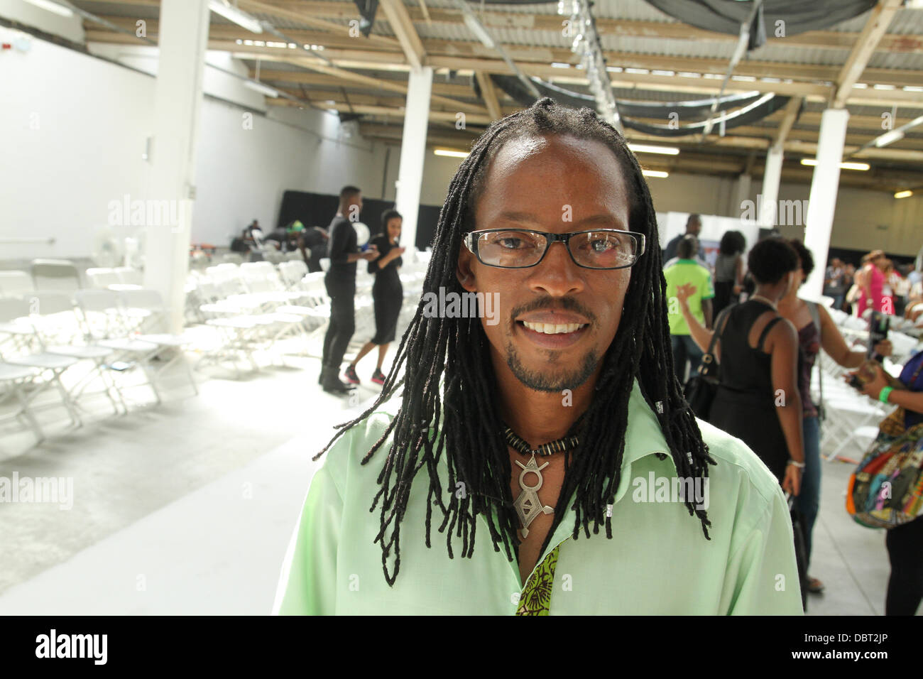 John Kaveke Kenyan Fashion Designer Seen After His Afwl Debut Show Stock Photo Alamy