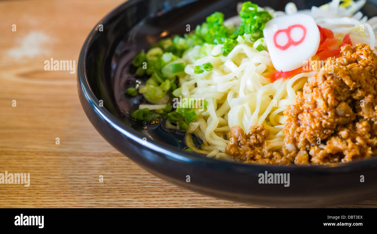 noodle with spicy ground pork sauce japanese food style