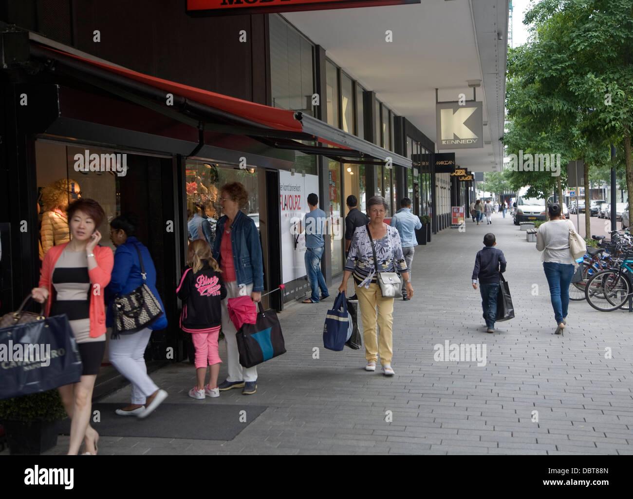 Upmarket luxury shopping Rotterdam Netherlands - Stock Image