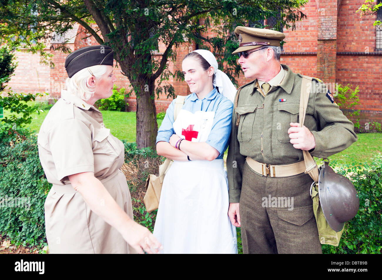 Woodhall Spa. 4th August, 2013. Woodhall Spa 1940's weekend 4/08/2013 Lincolnshire Village UK England. Local - Stock Image