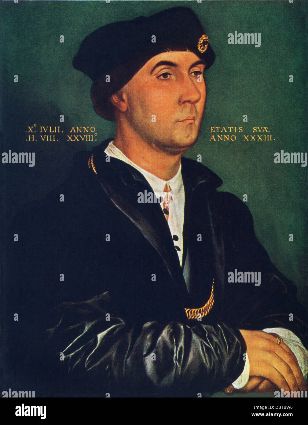 Hans Holbein the Younger (1497-1543), outstanding artist of German Renaissance, painted Sir Richard Southwell. - Stock Image