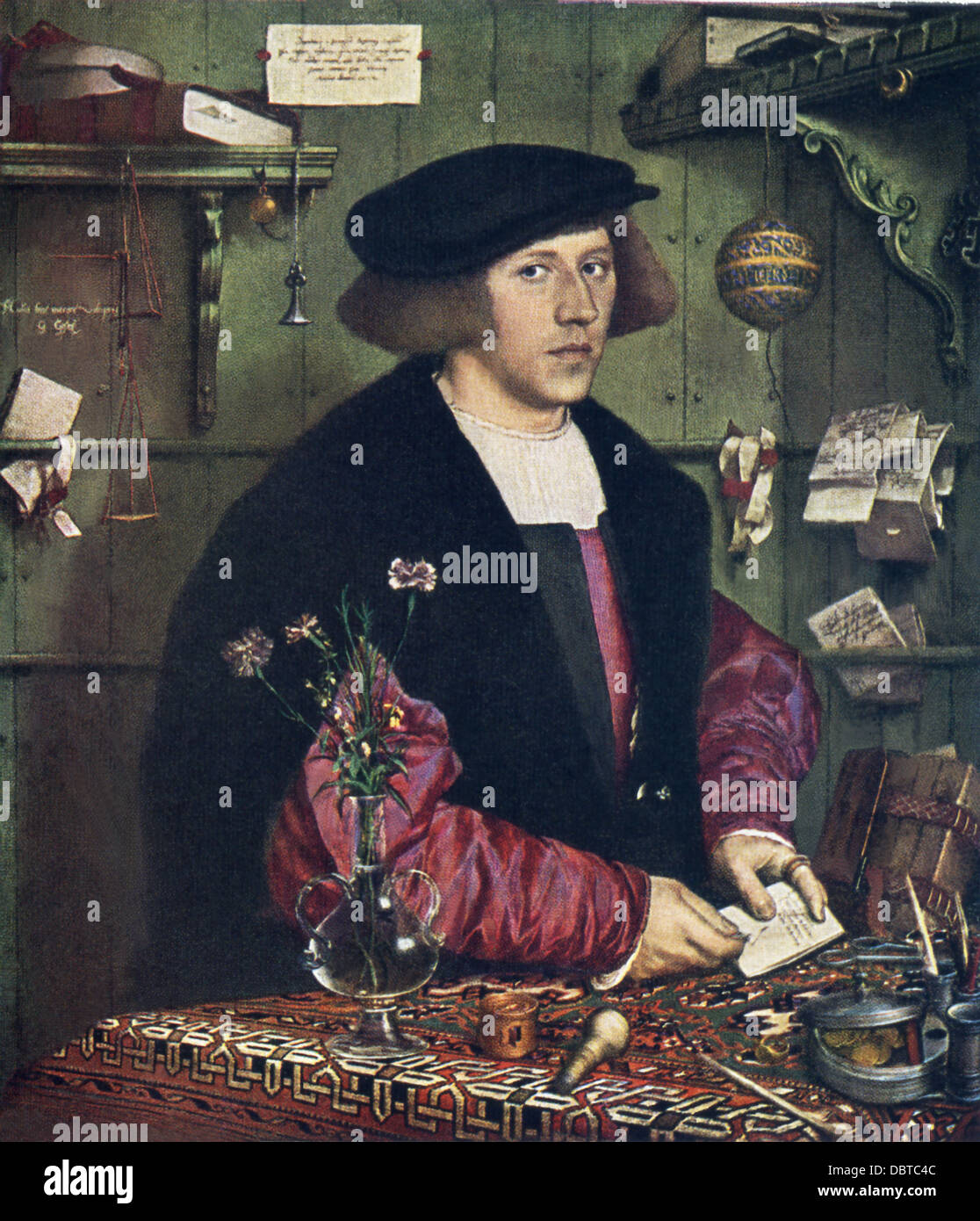 Hans Holbein the Younger (1497-1543), outstanding artist of German Renaissance, painted George Gisze. - Stock Image