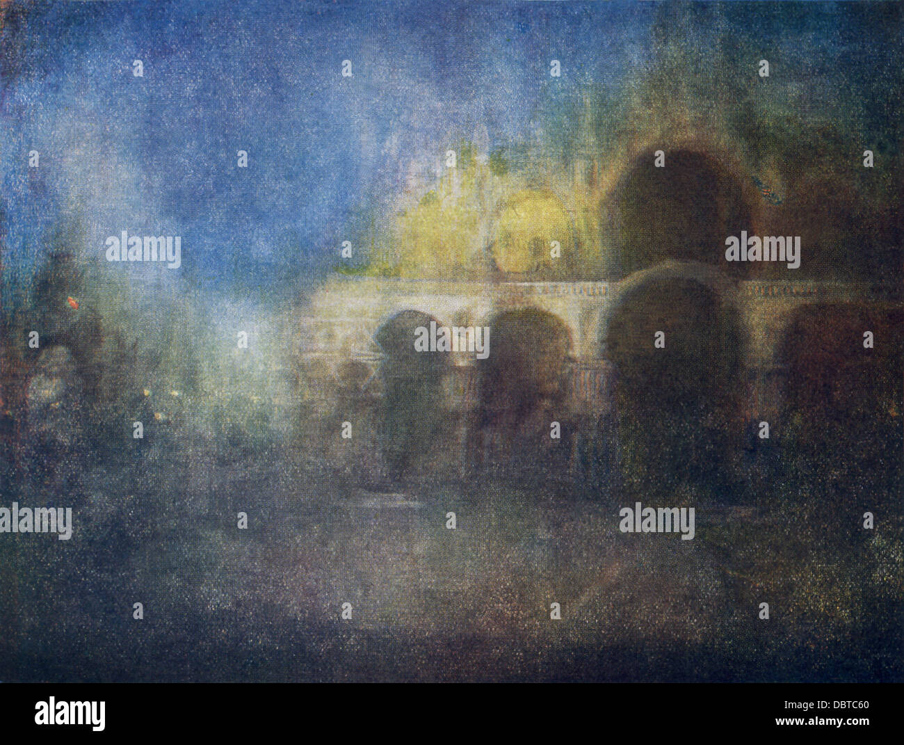 This painting by James Whistler, titled Nocturne St. Mark's Venice, was first exhibited in 1886. - Stock Image