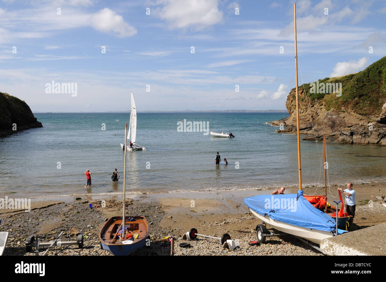 Little Haven Bay  Pembrokeshire on a summers afternoon Wales Cymru UK GB - Stock Image