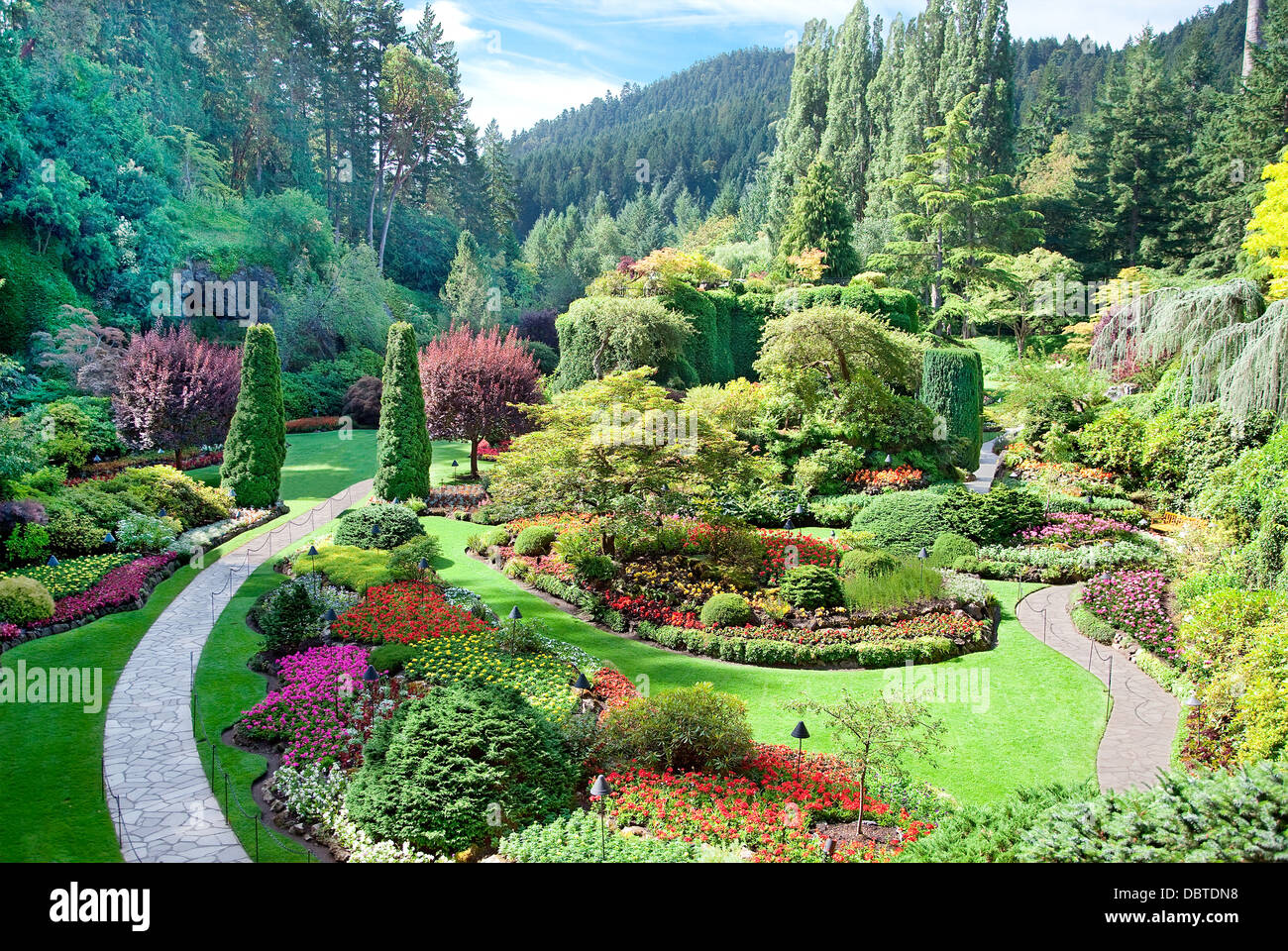 Butchart gardens victoria canada stock photos butchart gardens a view of the sunken garden at butchart gardens central saanich vancouver island thecheapjerseys Image collections