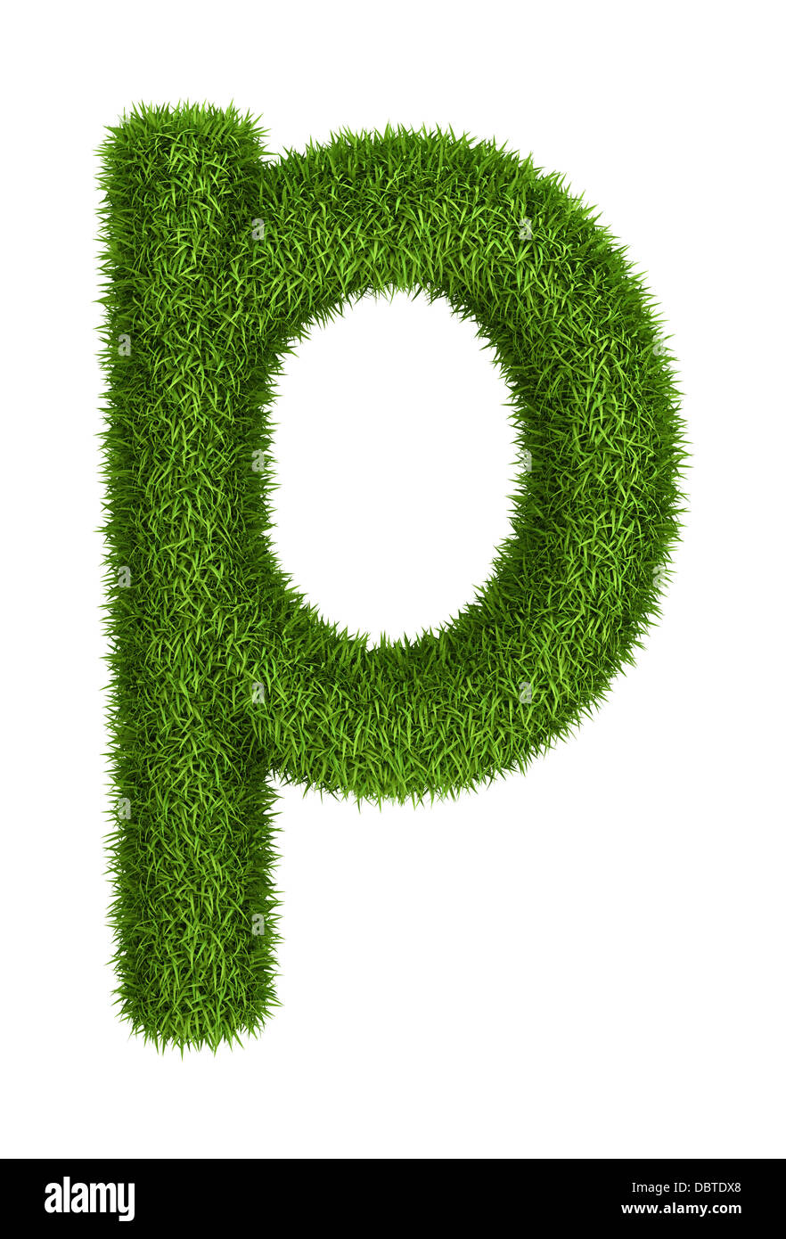 Natural Grass Letter P Lowercase