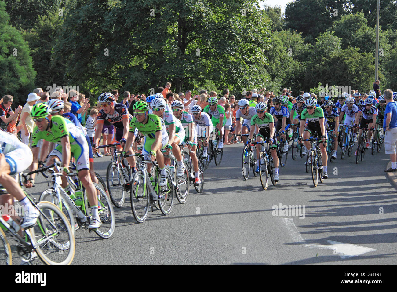 Prudential RideLondon London-Surrey Classic. Sunday 4th August 2013. 150 top international professional cyclists Stock Photo