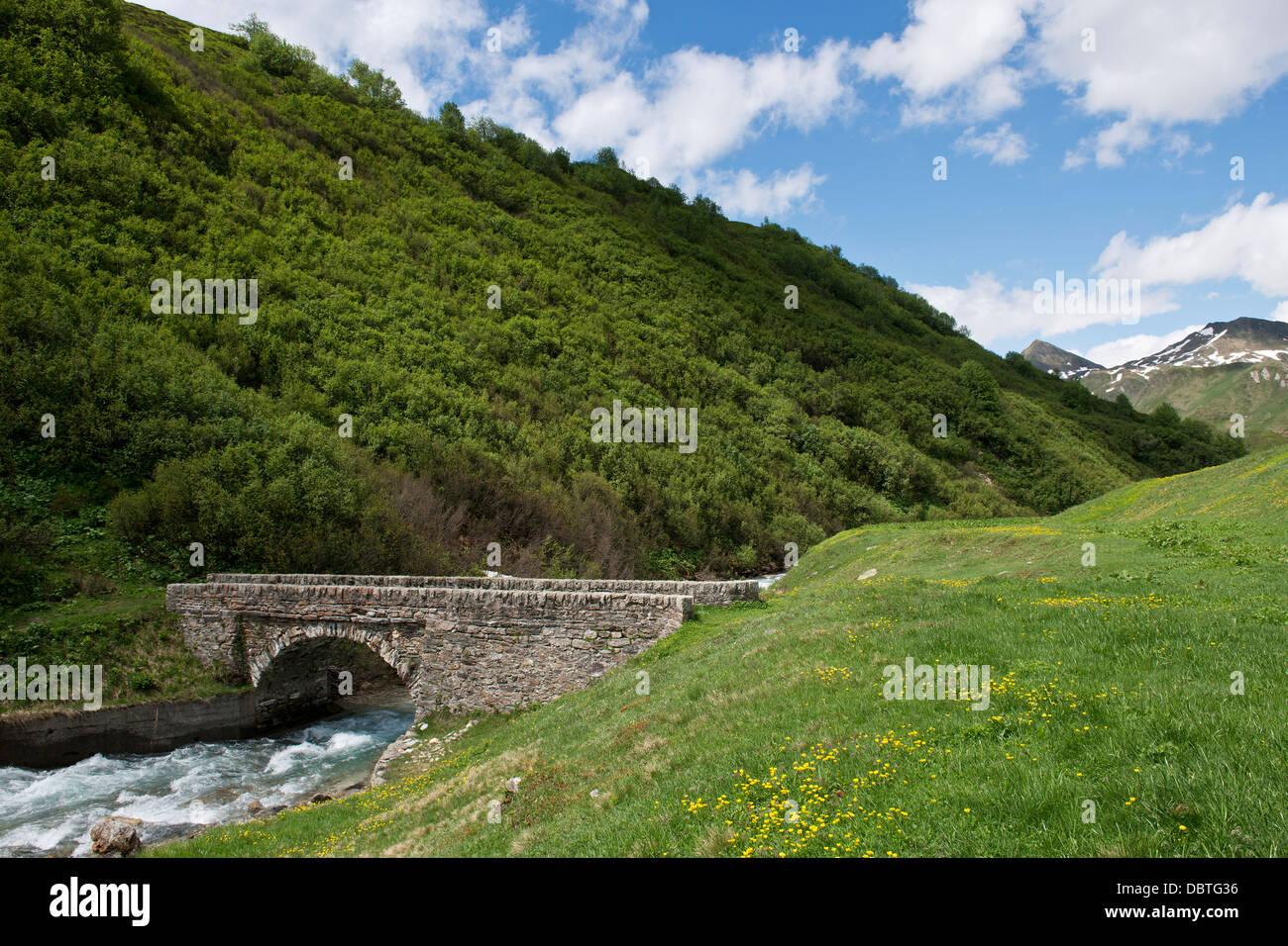 Switzerland, Canton Ticino, Ritom-Piora Stock Photo