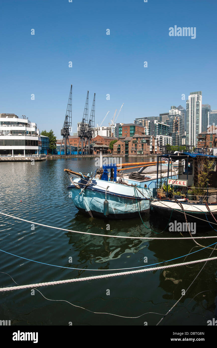 Docklands E14 England Hackney - Stock Image