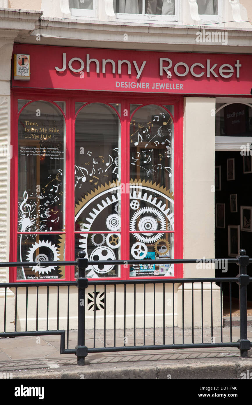 Johnny Rocket, Designer Jeweller Shop, Greenwich; London; England, UK - Stock Image