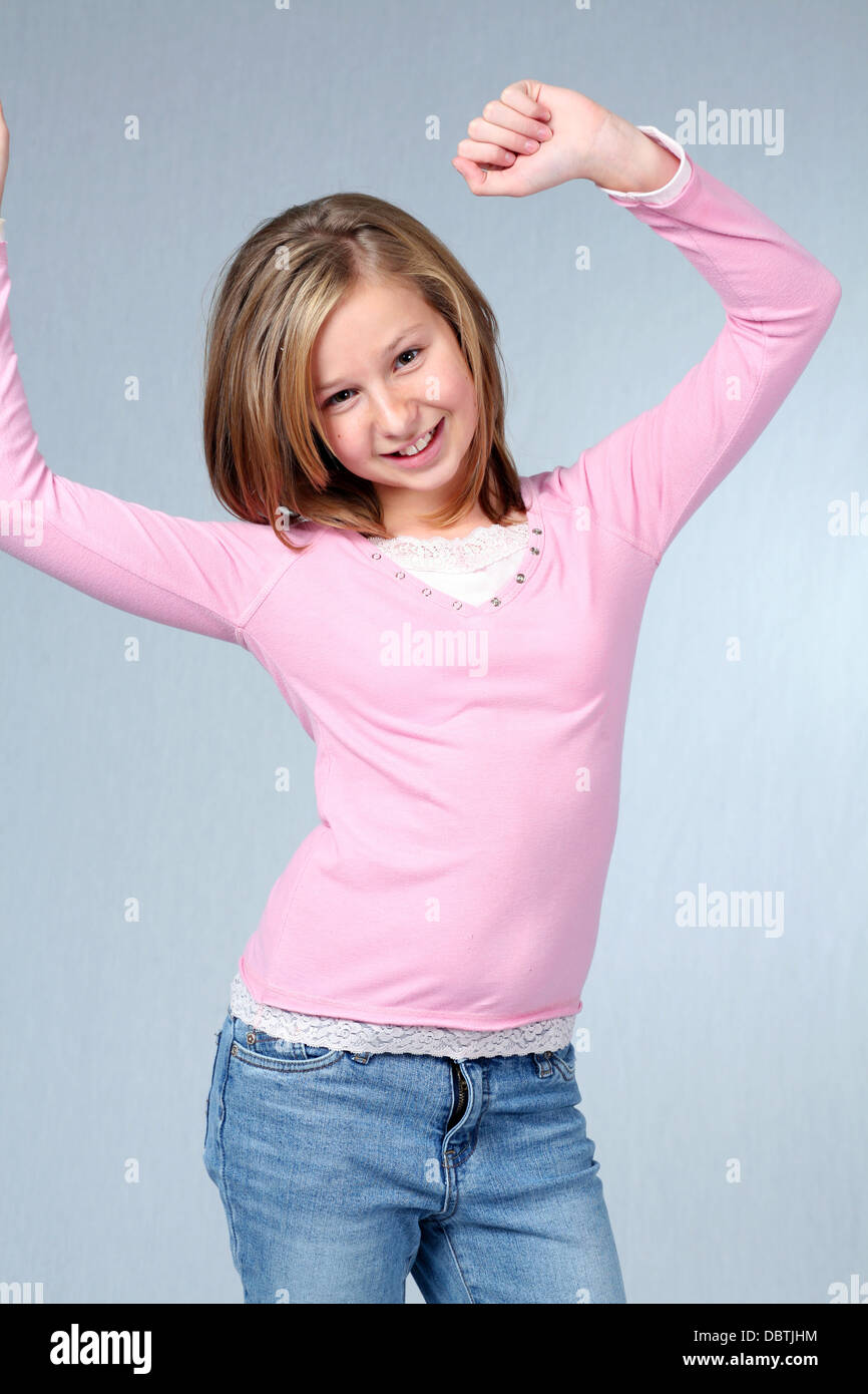 Close Up Pretty Blonde Preteen Girl Stock Photos Amp Close