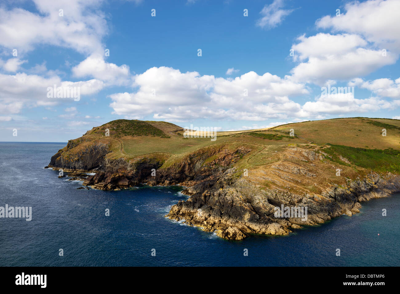 Kellan Head at Port Quin on the North Cornwall Coast - Stock Image