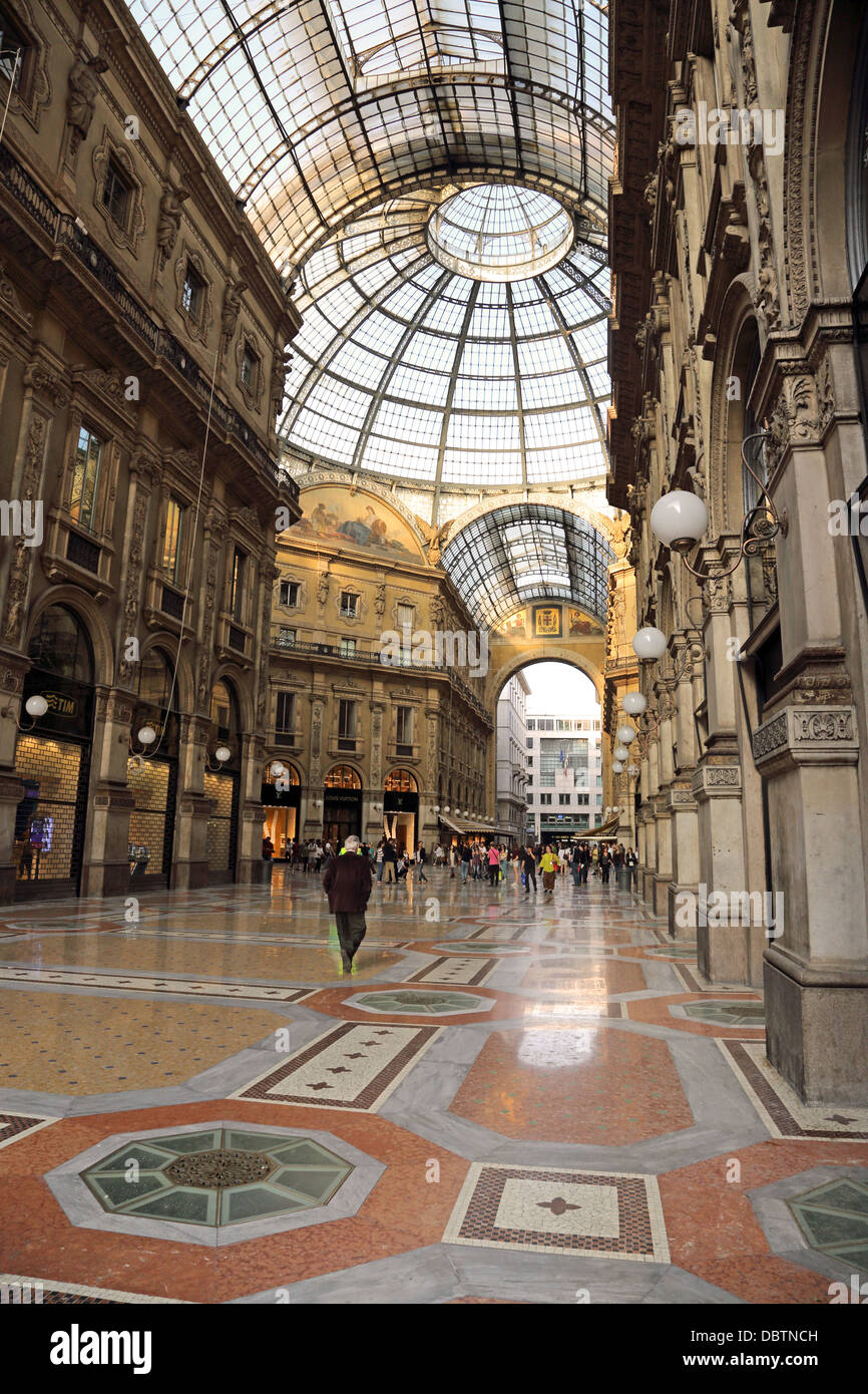 The Galleria Vittorio Emanuele is an iconic shopping arcade in Milan Italy Stock Photo