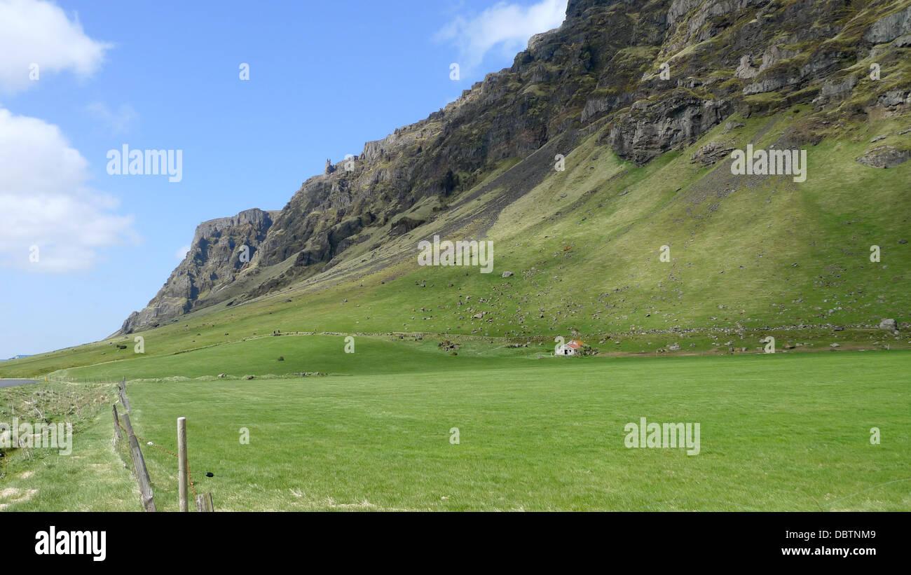 Scenery in Iceland on Highway 1 between Reykjavik and Vik. - Stock Image