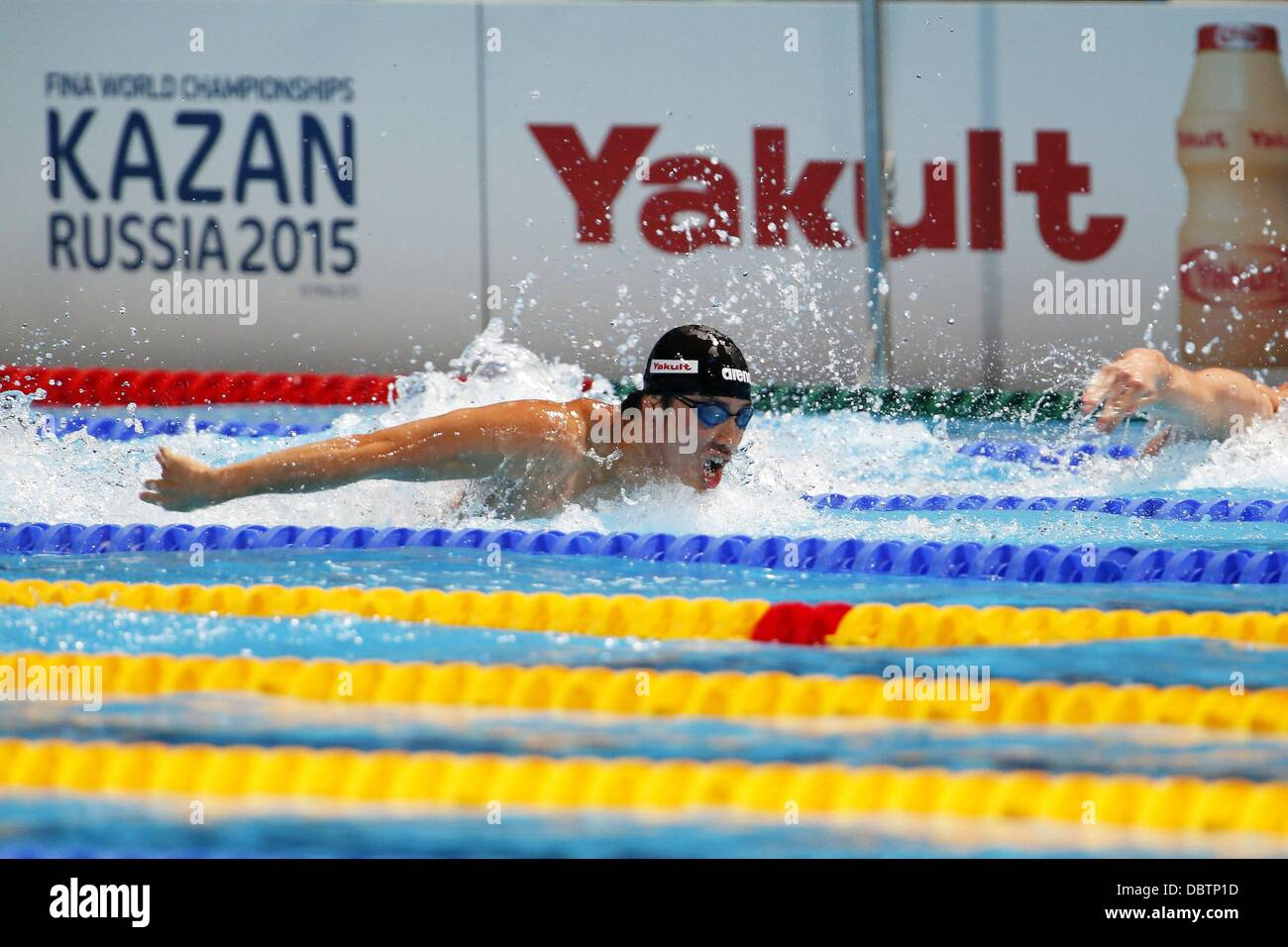 Barcelona, Spain. 4th Aug, 2013. Takuro Fujii (JPN) Swimming : Japan's Takuro Fujii swims in a Men's 4x100m - Stock Image