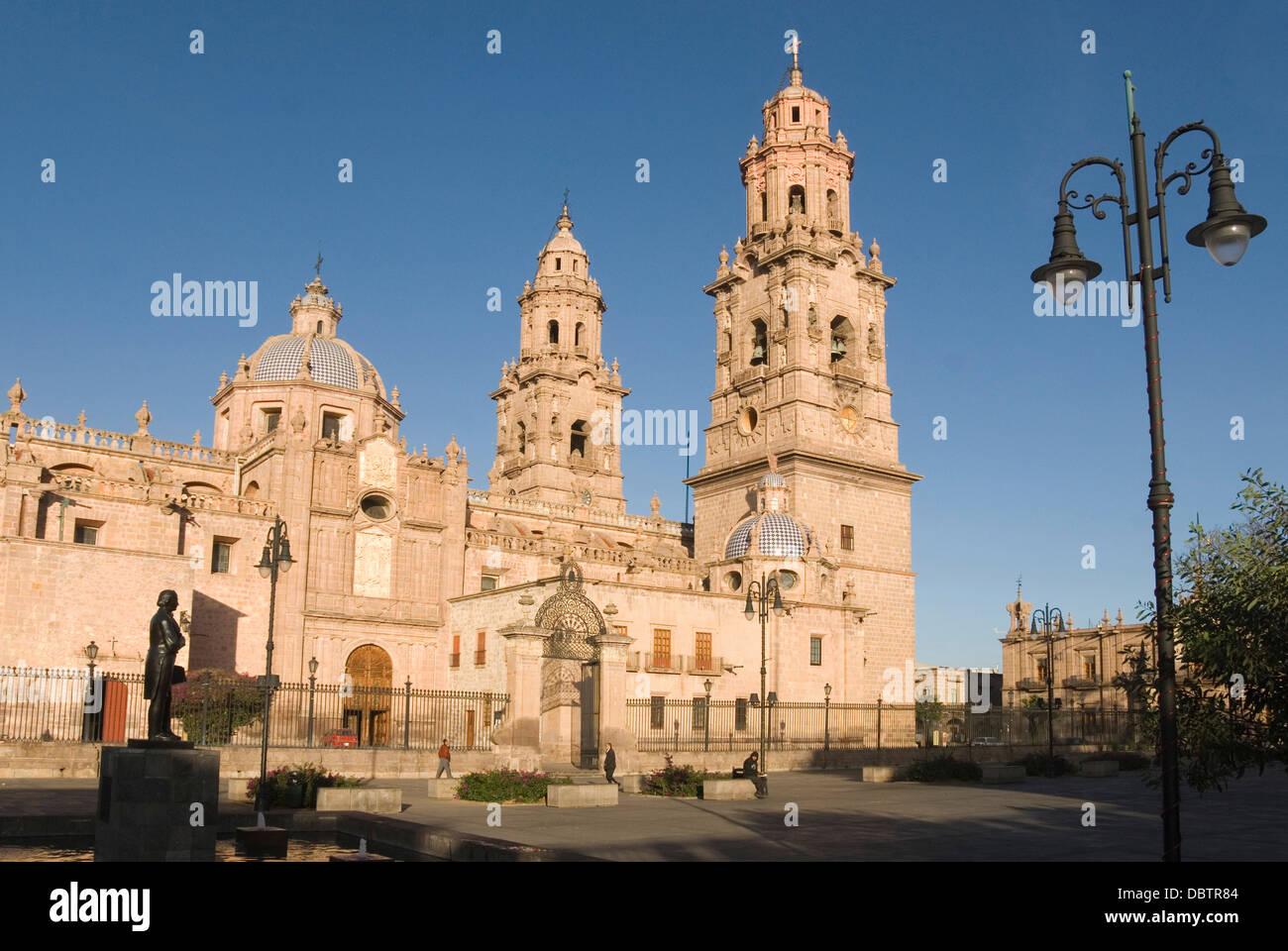 Catedral, Morelia, Michoacan, Mexico, North America - Stock Image