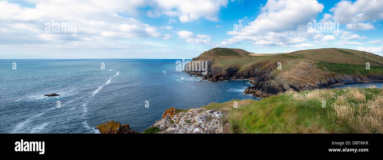 Kellan Head at Port Quin on the North Cornwall Coast - Stock Image