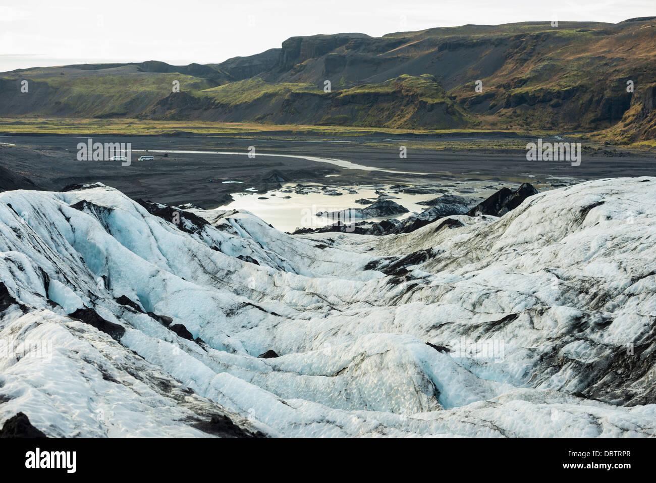 Myrdalsjokull glacier, Iceland, Polar Regions - Stock Image