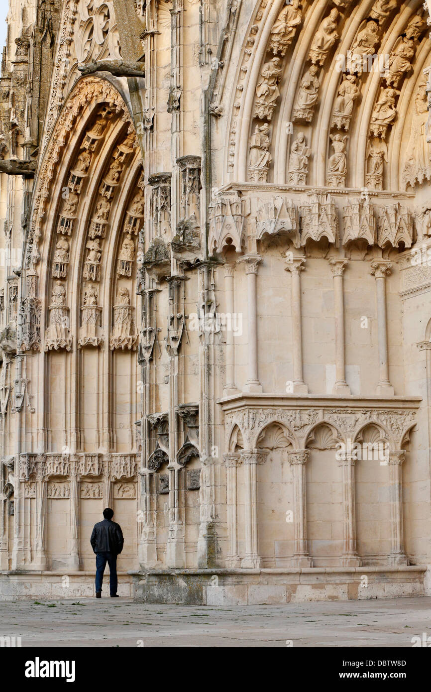 Portals of Bourges Cathedral, UNESCO World Heritage Site, Cher, Centre, France, Europe - Stock Image