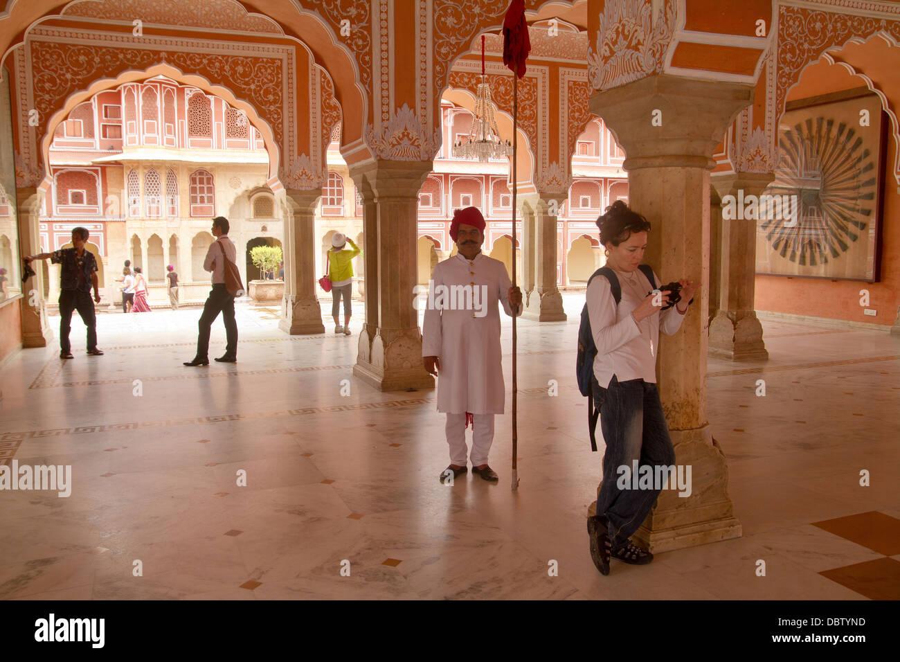 City Palace In Jaipur Rajasthan India - Stock Image