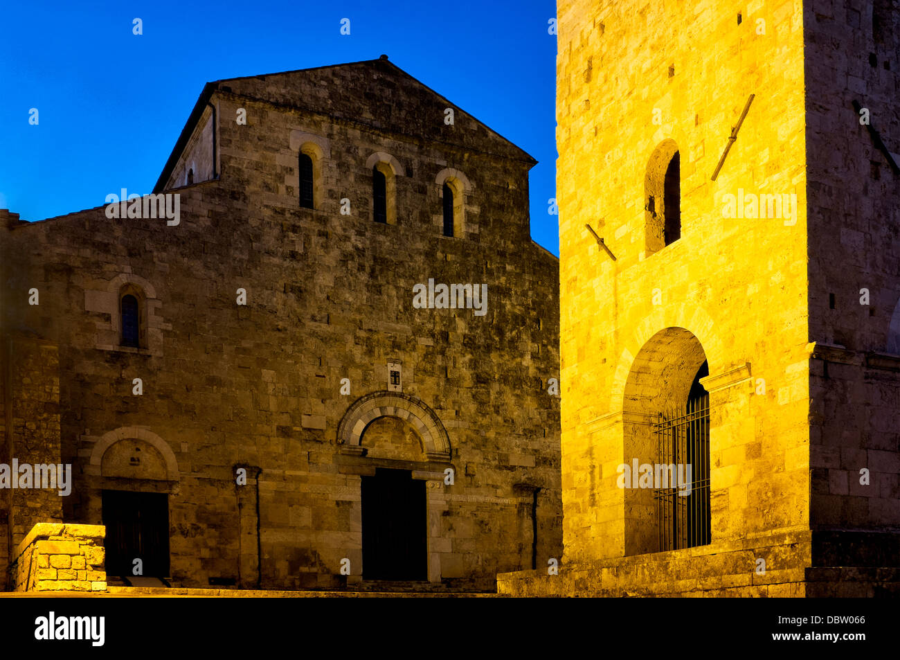 Facade of the Cathedral of Santa Maria, Anagni, Italy - Stock Image