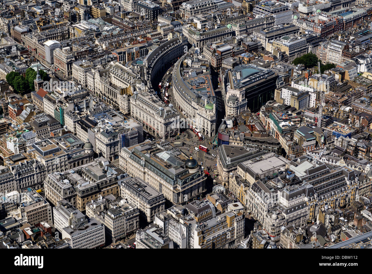 Aerial photograph of Regent Street and Surrounding Area. - Stock Image