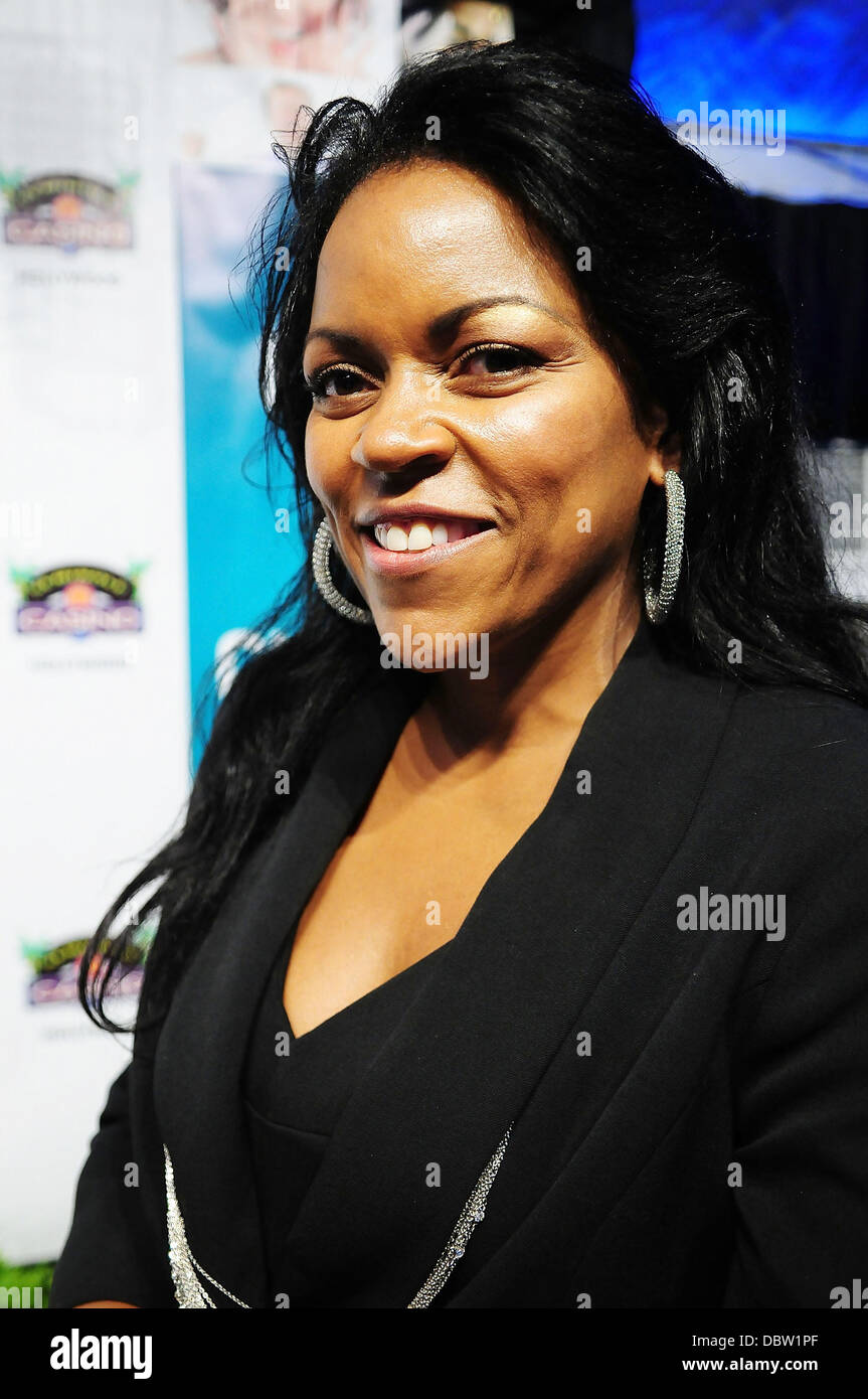 Winner Tonya Traylor attends the 'Face of Classic $100,000 Dream Job' event at Seminole Casino Hollywood - Stock Image