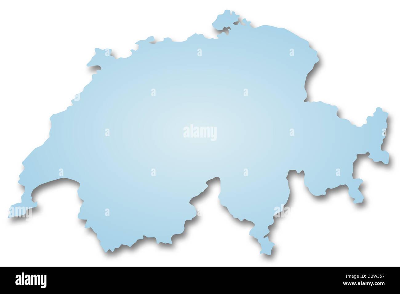 Map of Switzerland - Stock Image